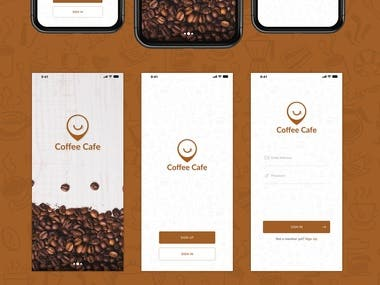 Coffee Cafe App.