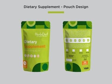 Dietary Supplement Pouch Packaging Design