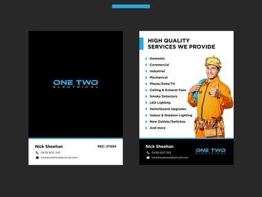 Simple Service Brochure Design