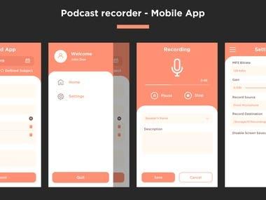 UI / UX of Recording App