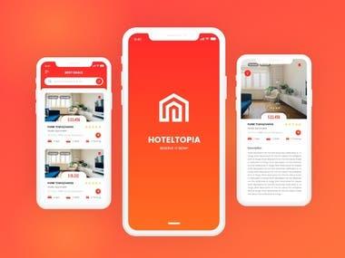 HotelTopia App UI/UX Design