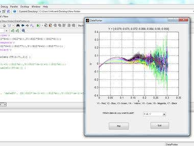 Identify vortexes model with MATLAB GUI