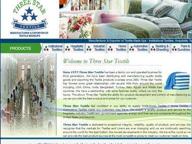 A HTML Website for a Textile Company - Pakistan