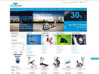 Welcare India Ecommerce Website