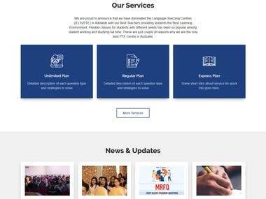 Website design & development for Language Teaching Centres (