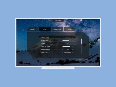 Game Console UI