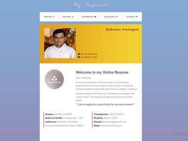Resume Website