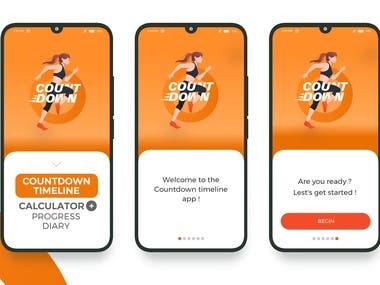 Countdown app design and development