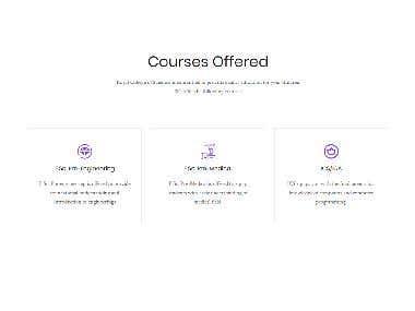 College event website