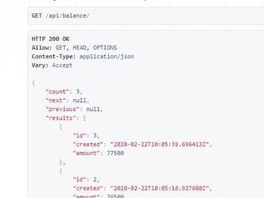 Django Rest Framework based api