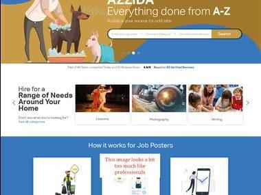 AZZIDA website logo project