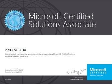 Microsoft Certified Solutions Associate: Windows Server 2016
