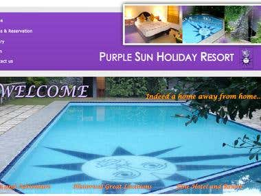 Web Site For Purple Sun Holiday Resort