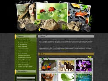 Design and application for Photography site