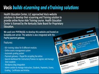 Vocis builds eLearning and eTraining solutions