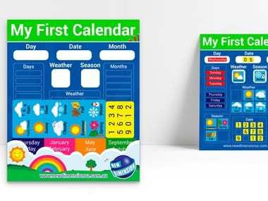 Product Packaging - My First Calendar