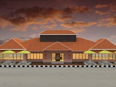 Concept Design For Restaurant Kerala Traditional Style