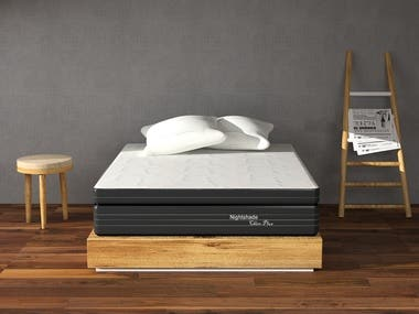 3D Product render of mattress