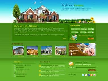Design and application for real estate booking site