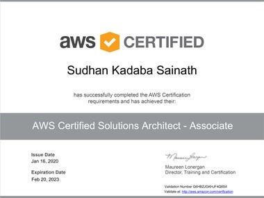 AWS Certified Solutions Architect - Associate.