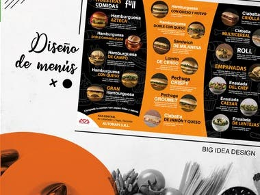 Diseño de menu