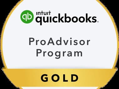 QUICKBOOKS Pro Advisor Gold