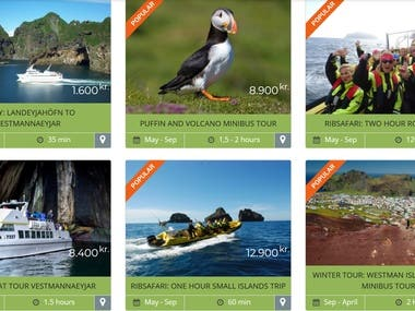 Woo-Commerce Website (Visit Westman Island)