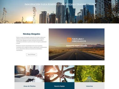 Nerubay abogados website