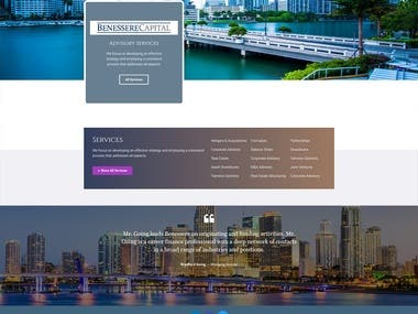Benessere Capital website