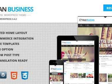 Clean Business - Business Wordpress theme