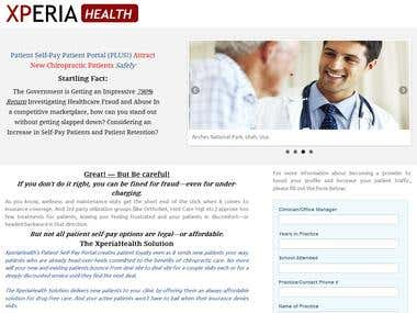 Landing page Xperiahealth