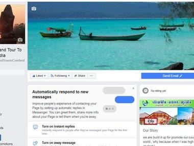 Social Media Marketing - Travel and Tour to Cambodia