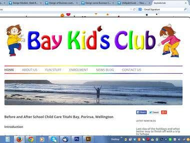 Wordpress Bay Kids Club