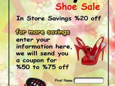 Aldays' shoe sale splash page