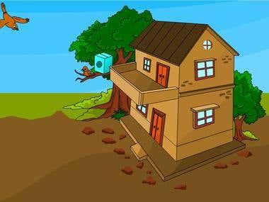 Bird house, Animastion