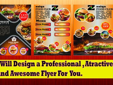 I Will Design Professional And Awesome Flyers.