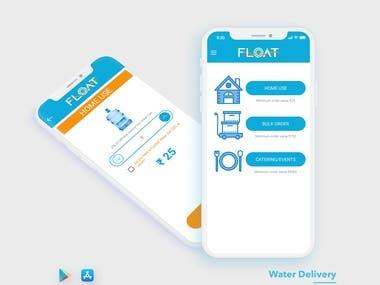Flooat - Water Bottles Booking App