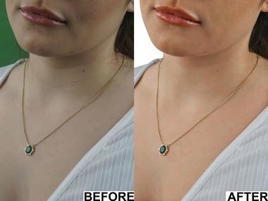 Photo Retouching & jewellery/skin color correction