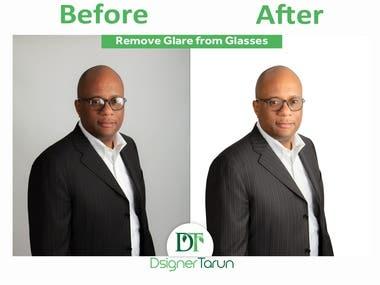 Remove Glare from Glasses