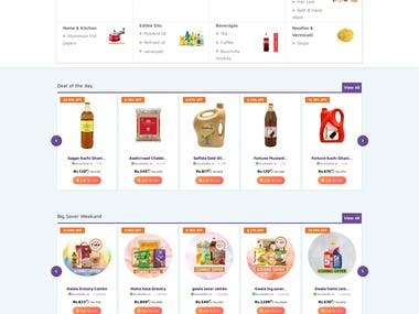 Grocery Delivery website