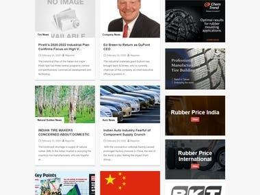 News and Journal website Laravel PHP