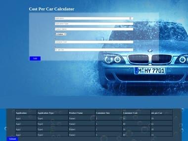 Cost per car calculator