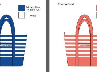 Tech Pack of Tote Bag Design.
