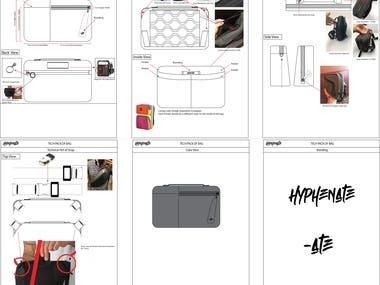 Bag Tech pack Design.