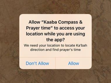 Kaaba Compass & Prayer time