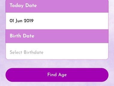 Age Finder APP