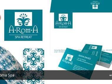 Aroma Spa brand design