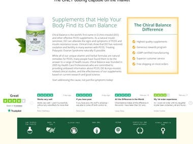 Chiral Balance Ecommerce based website