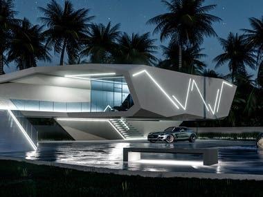 White Ultramodern House