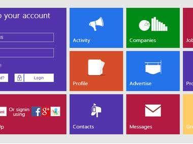 Metro UI Web Design